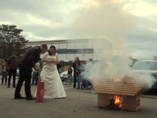 Julia und Christian Maas löschten einen »Gebäudebrand«