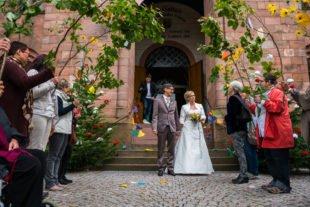 Hochzeitsspalier für Britta und Carsten Speck