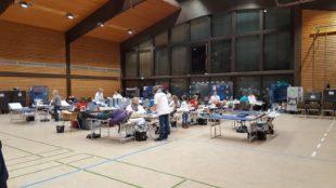 Gute Beteiligung beim Blutspenden