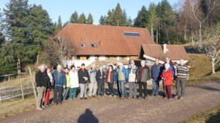 Seniorenwanderung rund um den Mühlstein mit adventlichem Flair