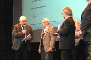 Franz Huber für 60 Jahre treue Mitarbeit geehrt