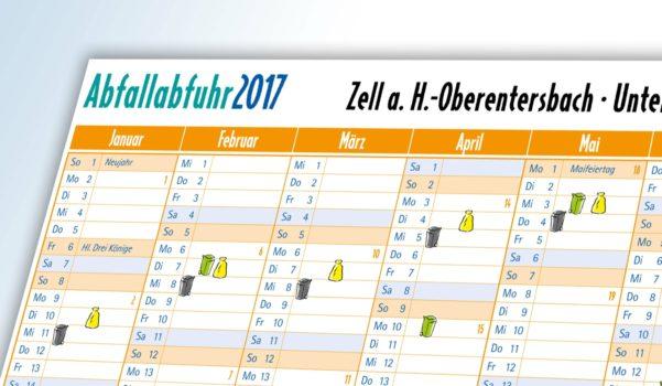 Abfallkalender 2017  werden verteilt