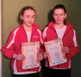 Julia Burger und Anne Kling starteten erfolgreich in die Hallensaison