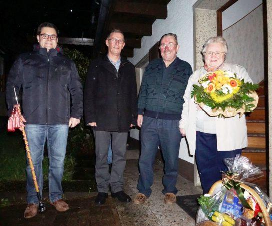 Bürgerwehr gratulierte Josef Rauber zu seinem 80. Geburtstag