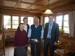 Wilhelm Hug feierte 85. Geburtstag