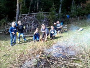 Kindergeburtstag am Lagerfeuer