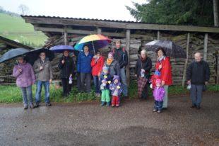 Hasenwanderer trotzten Sturm und Regen