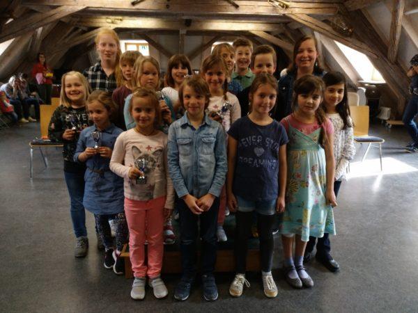 Blockflötenkinder der Stadtkapelle stellten ihr Können unter Beweis