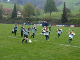 Fußball machte den Jüngsten Spaß