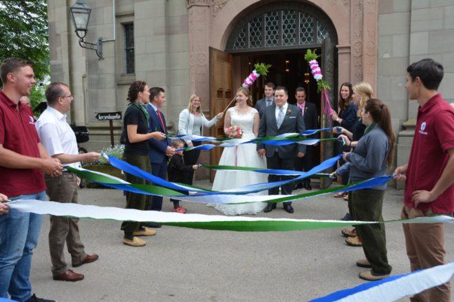 Hochzeitsspalier für Franziska und Markus Sester