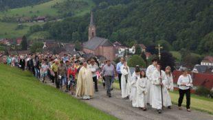 Prozession am Himmelfahrtstag zum Fußbühl