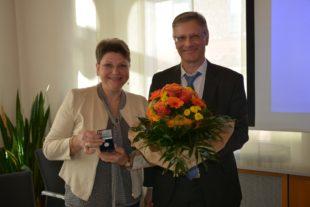 Silbermünze der Gemeinde für Bürgermeister-Stellvertreterin Anja Jilg