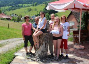 Gästeehrung auf dem Ferienhof  Echle in Prinzbach