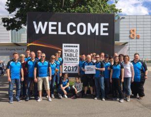 DJK zu Besuch bei der  Tischtennis-WM 2017
