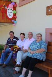 Gästeehrung für Sieglinde und Horst Matzke im »Haus Isenmann«