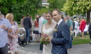 Hochzeitsspalier für Nathalie Lang und Ingbert Lehmann