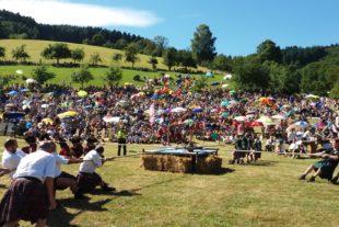 Schottische Highlands für kurze Zeit im Kinzigtal  Drei Tage werden die Highland-Games im Prinzbacher Hochland gefeiert
