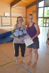 Übungsleiterin Silvia Glatt sagte »Tschüss« beim Eltern-Kind-Turnen
