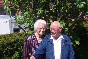 Edith und Arthur Berger feiern das Fest der eisernen Hochzeit