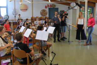 Jugendorchester beim SWR-Fernsehdreh mit dabei