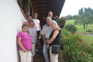 Gästeehrung im Haus der Familie Vollmer