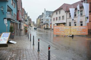 Einkaufssonntag und Töpfermarkt sind dem Unwetter zum Opfer gefallen