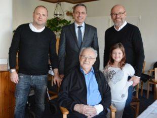 Friseurmeister Franz Herrmann feierte seinen 85. Geburtstag