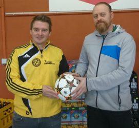 Christian Grimme spendet den ZFV-Spielball