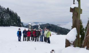 Durch die Winterwelt am Mühlstein