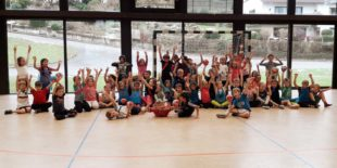 Jede Menge Spaß bei Koordinationsspielen und Aufsetzer-Handball