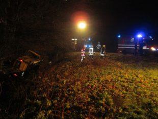 Feuerwehren im Unfalleinsatz