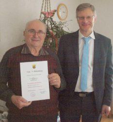 Schlossermeister Erwin Bilharz feierte seinen 80. Geburtstag