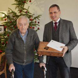 Bernhard Obert feierte seinen 96. Geburtstag