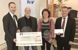 Volksbank Lahr unterstützt die Jugendarbeit beim TC Biberach