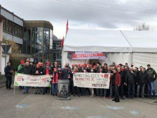 Metaller im 24-Stunden-Streik
