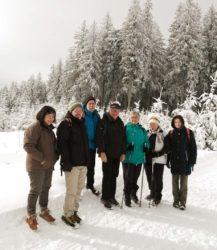 In verschneiter Winterlandschaft