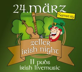 Am Samstag ist »Irish Night« in Zell a. H.