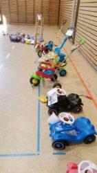 Dutzende Kinderfahrzeuge fanden einen neuen Besitzer