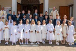 30 Mädchen und Jungen aus Biberach und Prinzbach feierten gemeinsam Erstkommunion