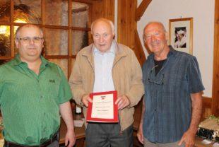 Heinrich Huber zum Ehrenmitglied des Schwarzwaldvereins ernannt