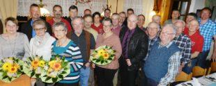 Glückwünsche an die Jubilare bei Ehrung langjähriger Mitglieder