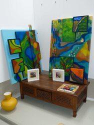 Künstler präsentieren ihre Arbeiten