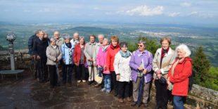 Den Odilienberg im Elsass und die Partnergemeinde Niedernai besucht