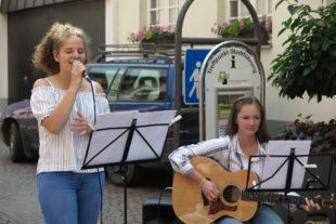 Nachwuchstalente der Musikschule Offenburg machten Marktmusik