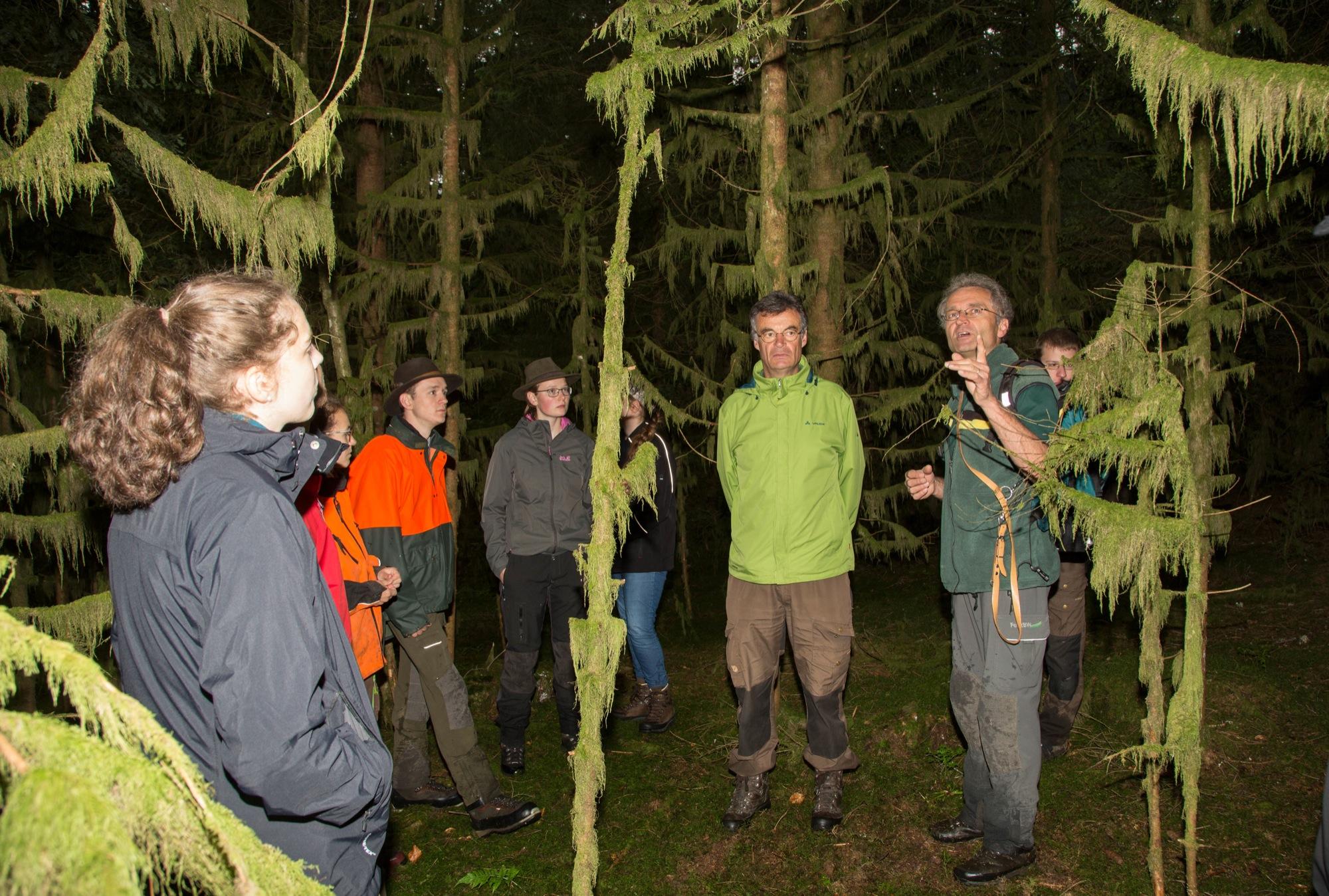 Exkursion führt Studenten in die Oberharmersbacher Wälder ...