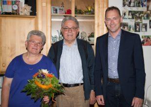 Gratulation zum 80. Geburtstag des ehemaligen Ratsmitglieds Josef Fautz
