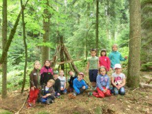 Schuldrachen erlebten Waldwoche