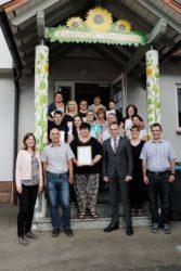 Zertifikat für »Kinderhaus Sonnenblume«