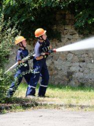 Jugendfeuerwehr war nonstop im Einsatz