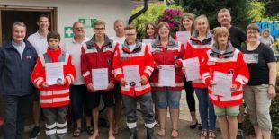 Zehn neue Sanitäter für das Harmersbach- und Kinzigtal bestanden Prüfung mit Bravour